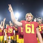 Jake Olson with USC team
